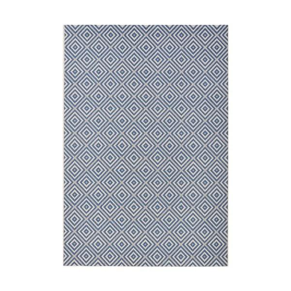 Modrý koberec vhodný aj do exteriéru Hanse Home Karo, 160x230cm