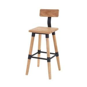 Barová stolička z elmového dreva VIDA Living Hunter, výška 93 cm