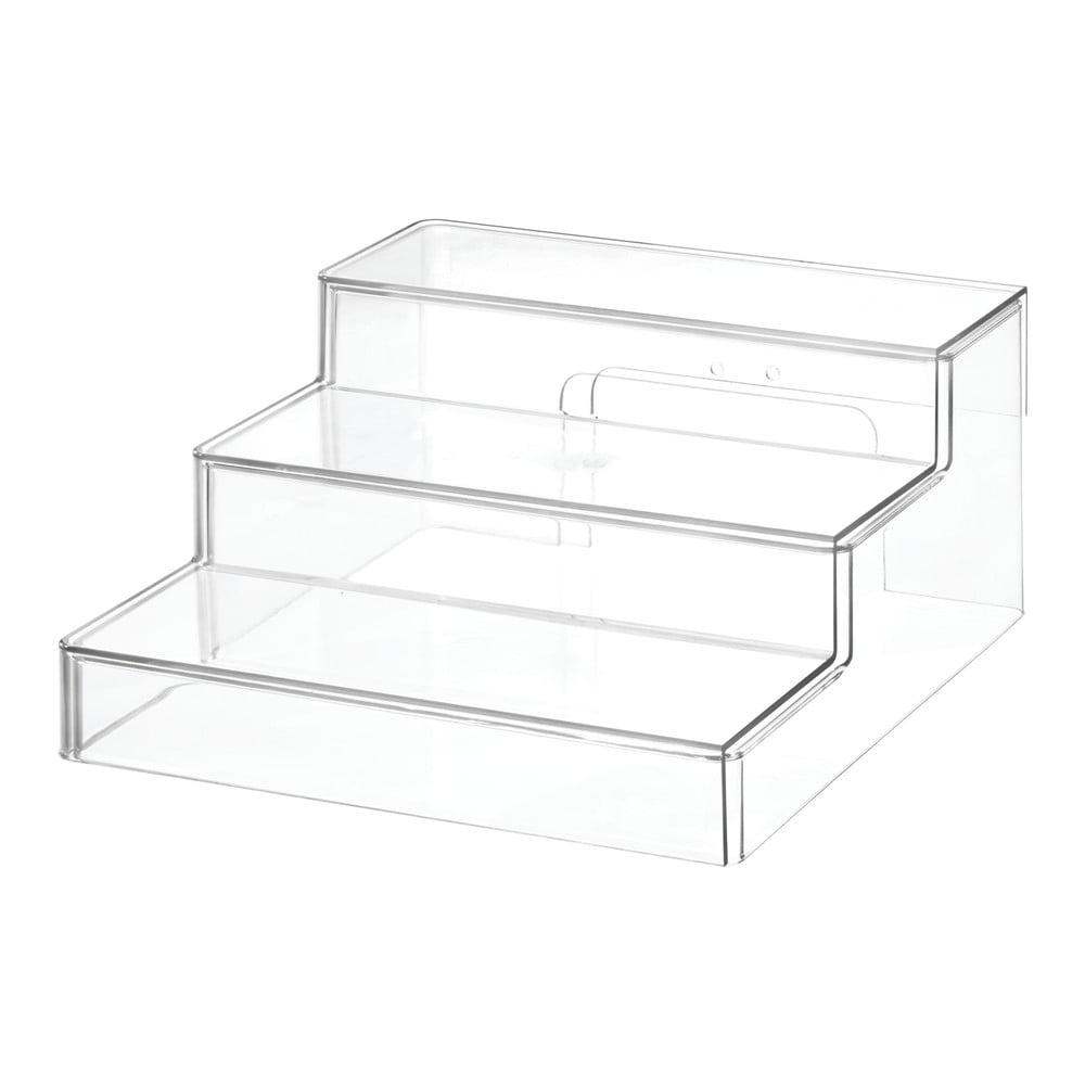 Transparentný stojan iDesign The Home Edit, 26 x 29,2 x 12,7 cm