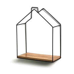 Nástenná polička Versa House Shape