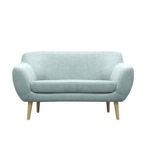 Modrozelená pohovka pre dvoch Mazzini Sofas Sardaigne, svetlé nohy