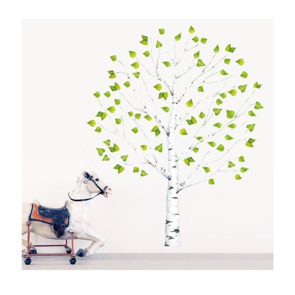 Samolepka na viac použití Birch Tree, 150x100 cm