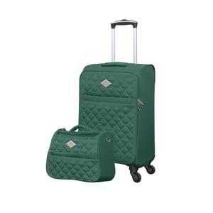 Sada zeleného kufra a toaletnej tašky GERARD PASQUIER Adventure, 38 l + 16 l