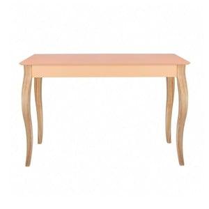 Odkladací konzolový stolík Dressing Table 105 cm, lososový