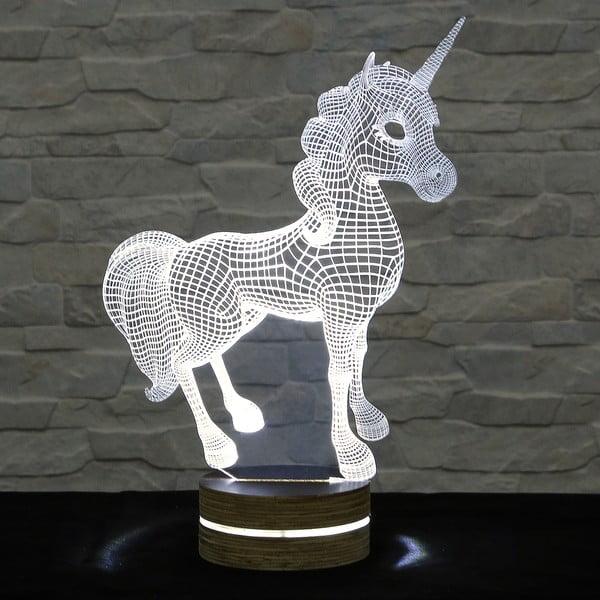 3D stolová lampa Unicorn