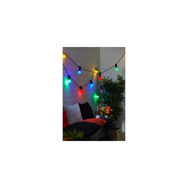 Farebná svetelná LED reťaz vhodná do exteriéru Best Season Summer, 10 svetielok
