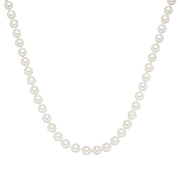 Perlový náhrdelník Muschel, biele perly 8 mm, dĺžka 45 cm