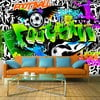 Veľkoformátová tapeta Artgeist Football Graffiti, 300 x 210 cm