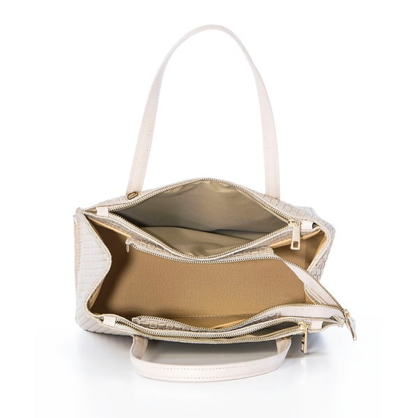 Kožená kabelka Suede Braid Beige
