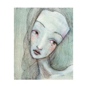 Autorský plagát od Lény Brauner Sivá slečna, 50x60 cm