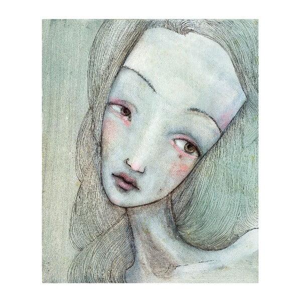 Autorský plagát od Lény Brauner Sivá slečna, 60x71 cm