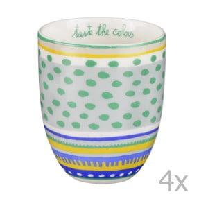 Sada 4 porcelánových šálok s bodkami Oilily 200 ml, zelená