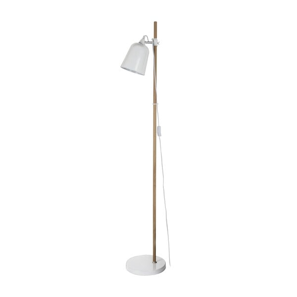 Biela stojacia lampa Present Time ETH Wood