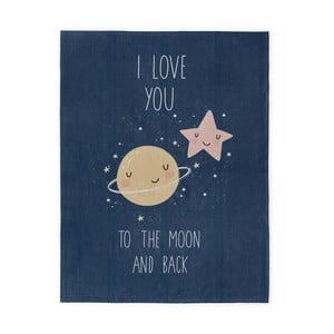 Detský ručne vyrobený koberec Naf Naf Love To The Moon, 120×160 cm