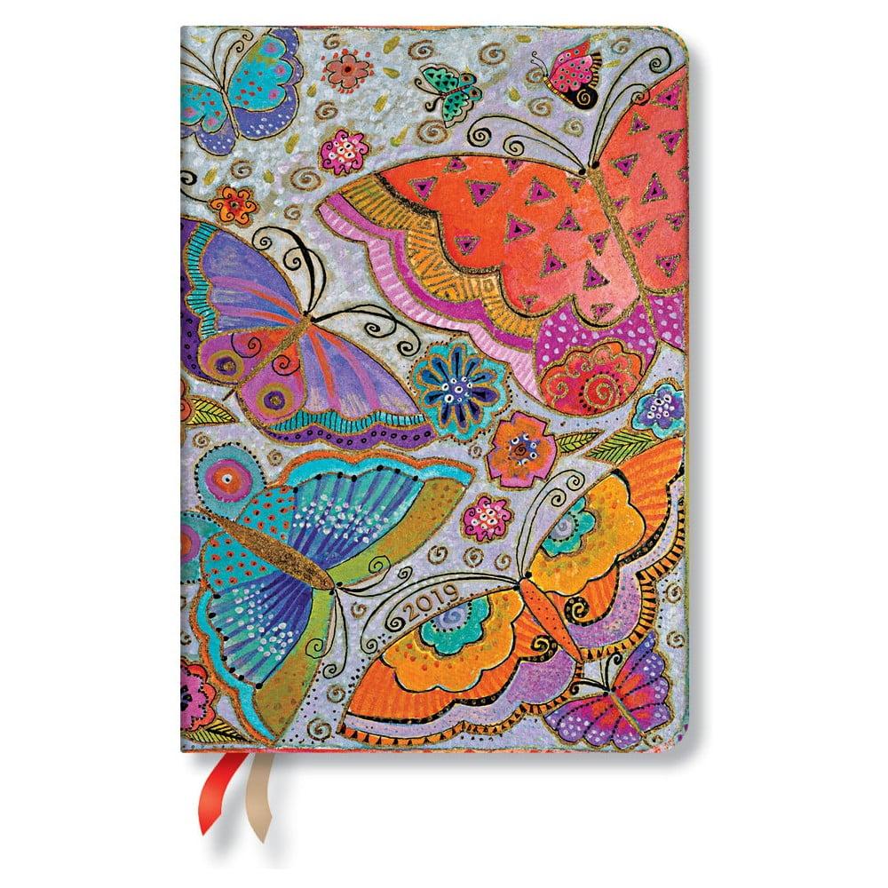 Diár na rok 2019 Paperblanks Flutterbyes Horizontal, 12 x 17 cm