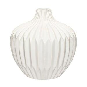 Biela kameninová váza Hübsch Kjeld, výška 21 cm