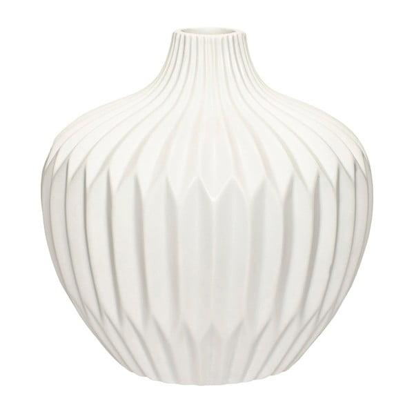 Biela kameninová váza Hübsch Kjeld, výška 21cm