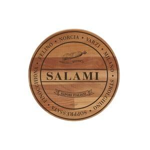 Doska z bukového dreva Bisetti Broad Salami, 30cm