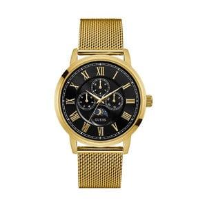 Pánske hodinky s antikoro remienkom v zlatej farbe Guess W0871G2