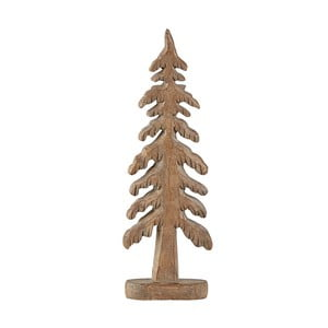 Hnedá dekoratívna soška KJCollection Tree Turo, 24 cm