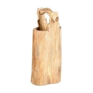 Dekoratívne vedro z teakového dreva Massive Home Bucket, výška34cm