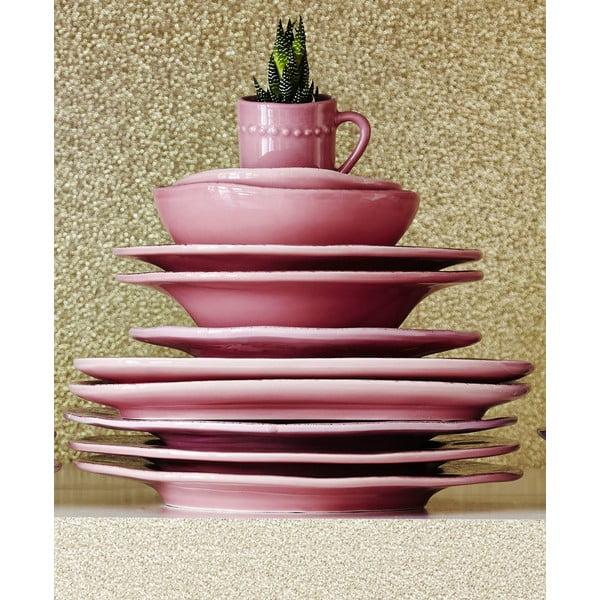 Keramický tanier Oval Pink