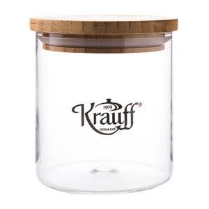 Sklenená dóza Krauff Glass, 12,5 cm