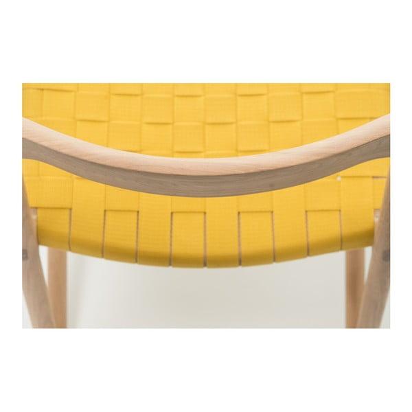 Stolička Fawn Natural Gazzda, žltá