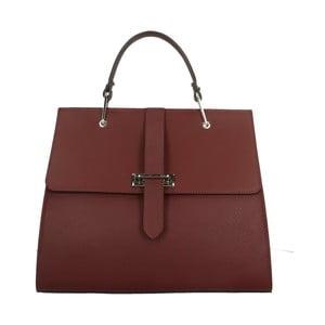 Vínovočervená kožená kabelka Roberto Buono Quadra