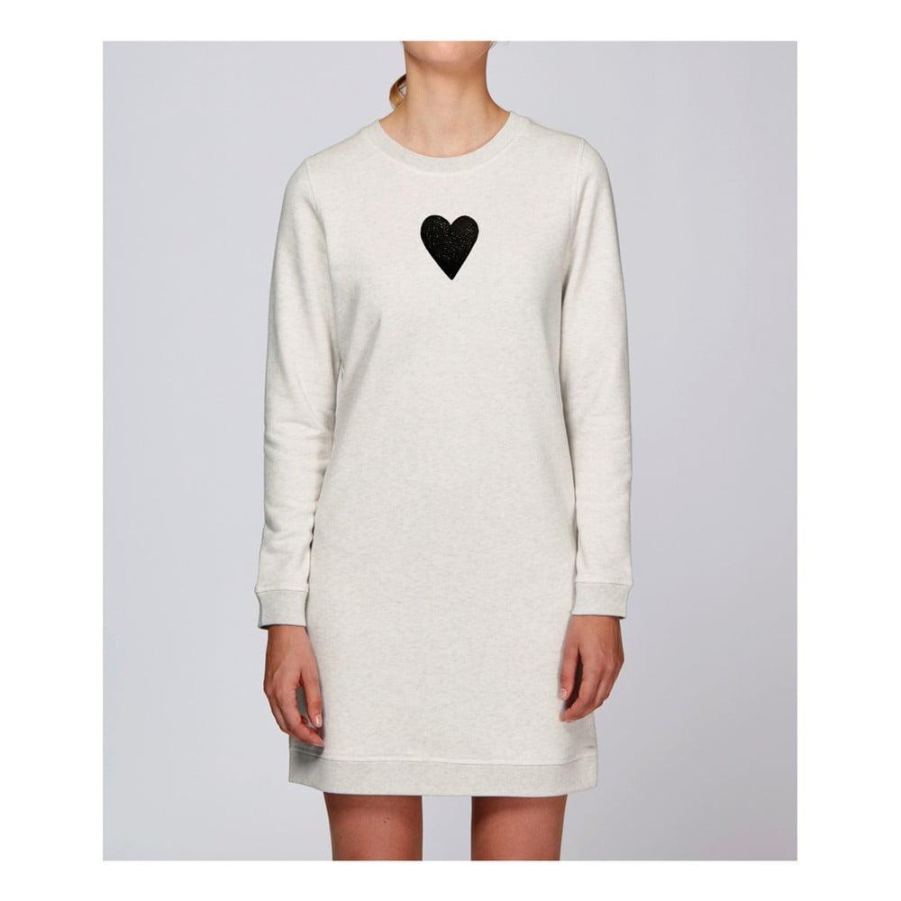 Dámske krémové športové šaty s motívom Spolu od Lény Brauner & IM Cyber pre KlokArt, veľ. S