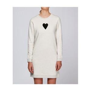 Dámske krémové športové šaty s motívom Spolu od Lény Brauner & IM Cyber pre KlokArt, veľ.S