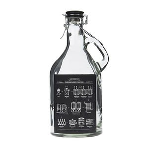 Sklenená fľaša InArt  Blackboard