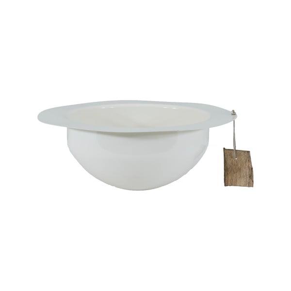 Kovová misa Bowl 25 cm, biela