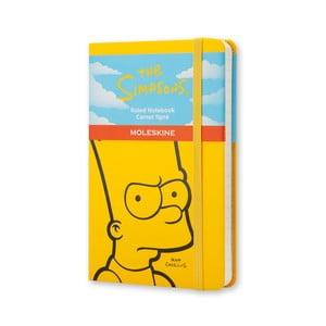 Žltý zápisník Moleskine The Simpsons, malý