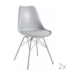 Sada 2 sivých jedálenských stoličiek 13Casa Marianne