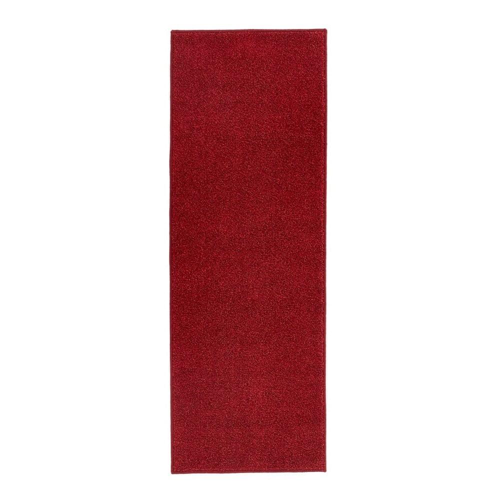 Červený behúň Hanse Home Pure, 80 × 400 cm