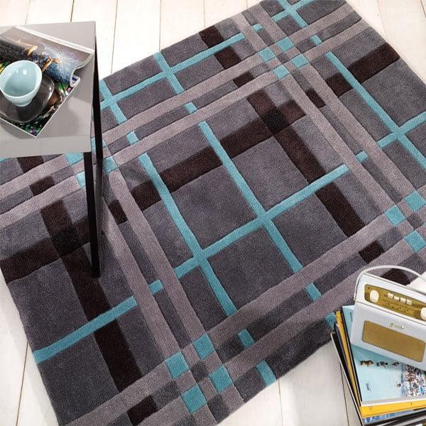 Koberec Weave, 160 x 230 cm, sivý