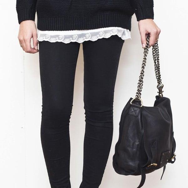 Čierna kožená vintage taška O My Bag Sleazy Jane