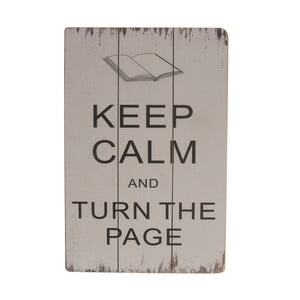 Závesná ceduľa Keep Calm and Turn the Page