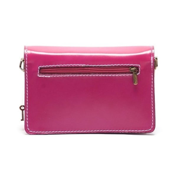 Ružová kožená kabelka Mangotti Lotus