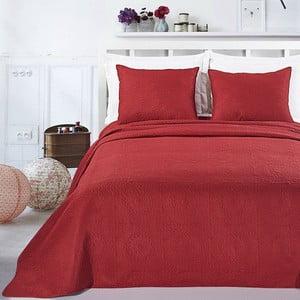 Červený set obliečky na vankúš a plédu z mikrovlákna DecoKing Elodie, 240x260cm