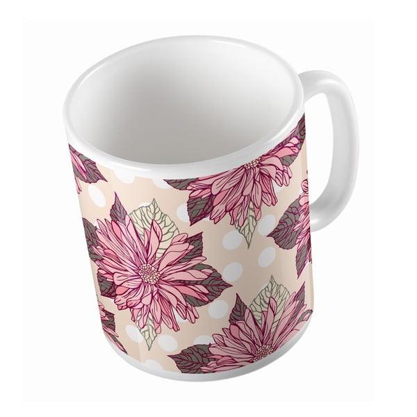 Keramický hrnček Dahlia Flower, 330 ml