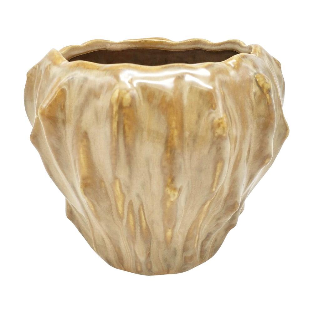 Pieskovohnedý keramický kvetináč PT LIVING Flora, ø 12,5 cm
