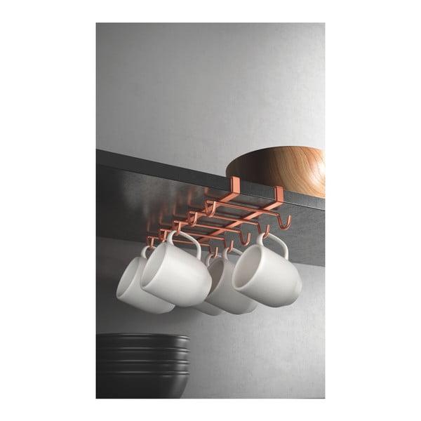 Závesný držiak na hrnčeky Metaltex v medenej farbe