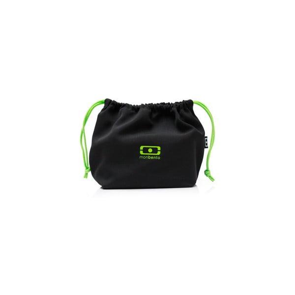 Vrecko na desiatový box Monbento Black/Green