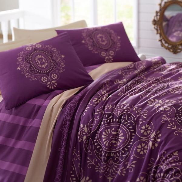 Obliečky s prestieradlom Ottoman Purple, 160x220 cm