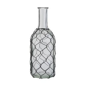 Sklenená fľaša Clayre & Eef Transparent, výška 22 cm