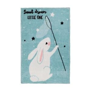 Modrý detský koberec Obsession Bunny, 170×120 cm