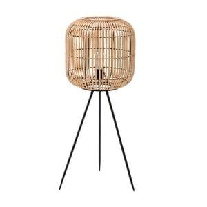 Voľne stojacia lampa stienidlom z brezového dreva InArt Decent, výška 90 cm