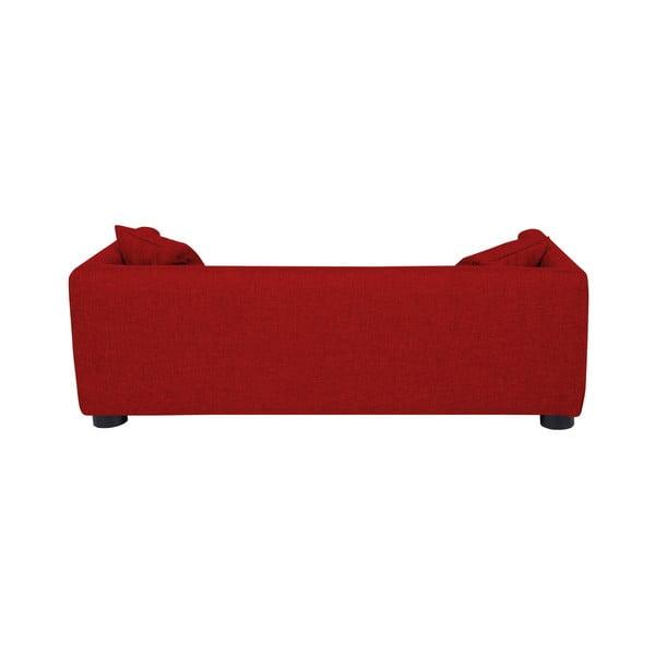 Červená pohovka pre psov s 2 dekoratívnymi vankúšikmi Marendog Princess